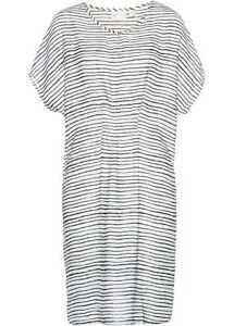 Kleid Gr. 48 Oliv Weiß Gestreift Damenkleid Minikleid ...