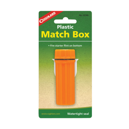 emergency disaster outdoor survival camping NEW Coghlan/'s Plastic Match Box