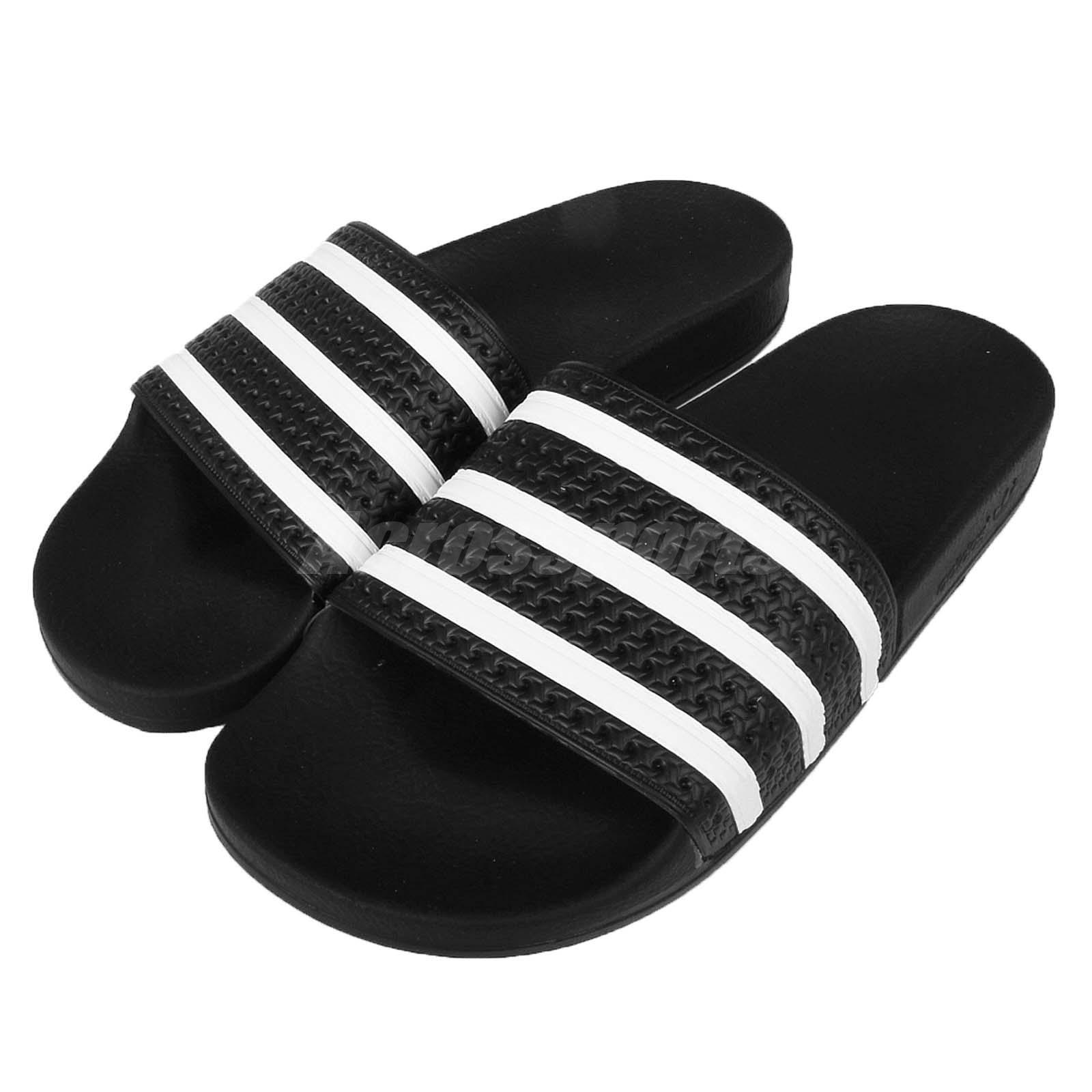 540a8afa3 adidas Adilette Black White Mens Slide Slippers Sandals 3-stripes ...