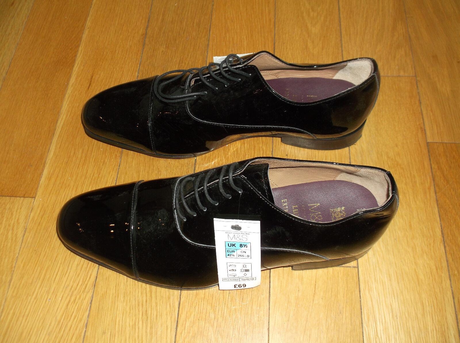 MARKS AND SPENCER M&S COLLECTION LUXURY 'EXTRA WIDE FIT' SHOES, UK 8.5, EU 42.5