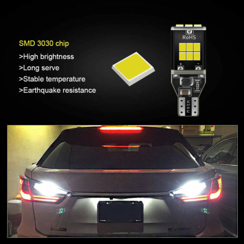 2x 15smd W16W Reverse Bulbs LED White 6000K Canbus Mercedes CLA C117 2013-on