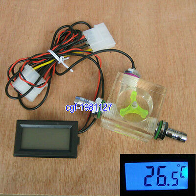 Flow Scout Meter And Digital Thermometer For Water Liquid Cooler System CPU CO2