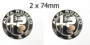 2x-Alfa-Romeo-emblema-kuehlergrill-negro-plata-nuevo