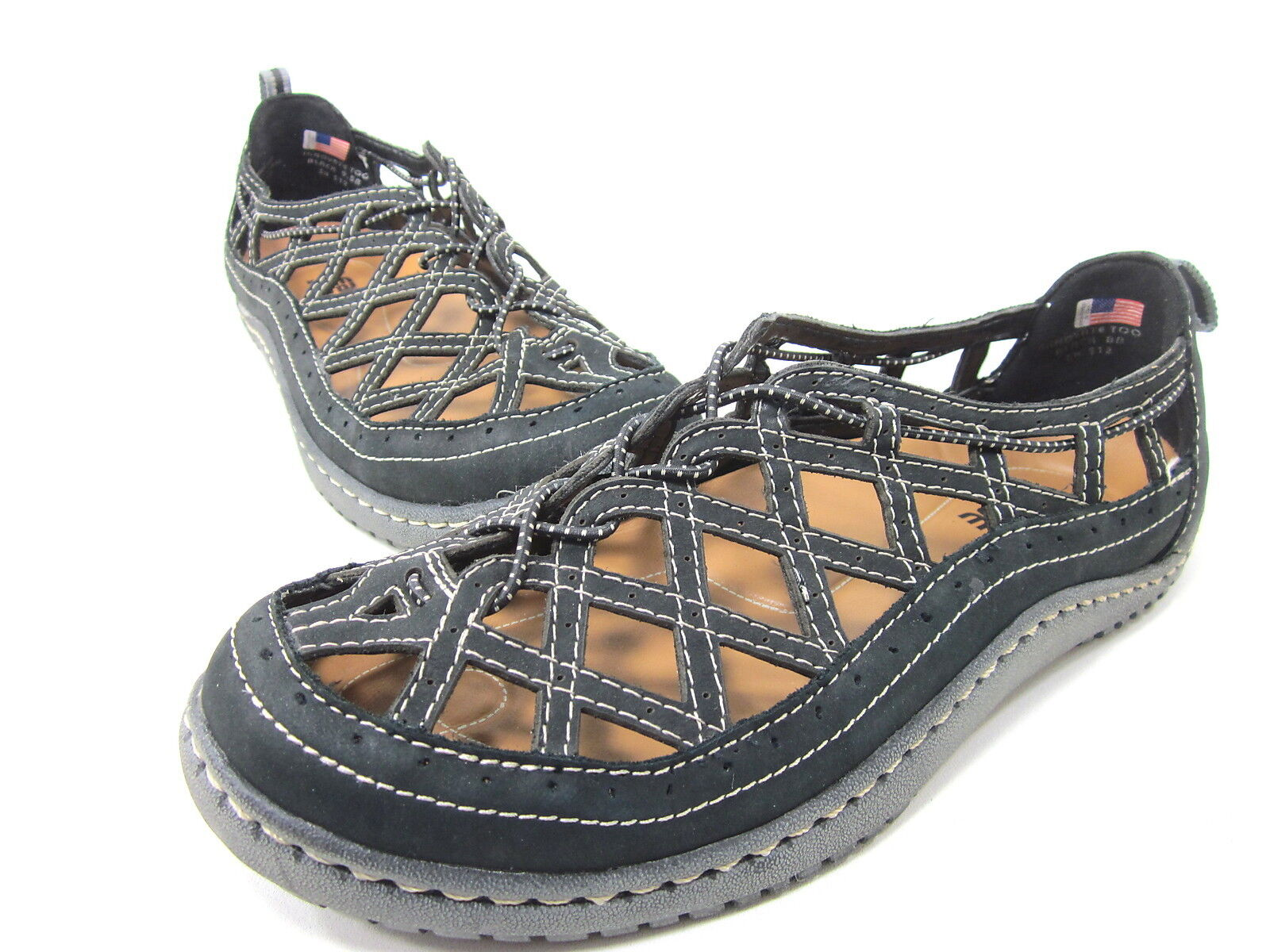 KALSO EARTH INNOVATE TOO SANDAL WOMENS BLACK, 8 SZ LEFT, 9.5 SZ RIGHT MISMATCHED