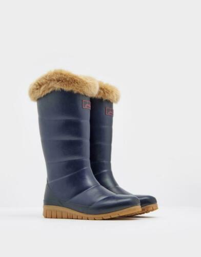 Joules Downton Womens Tall Padded Wellies with Faux Fur Trim AW19