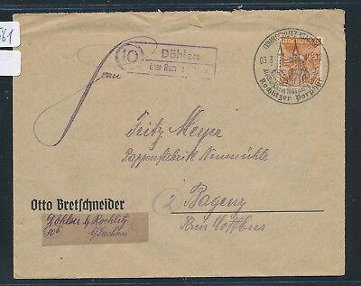 Ddr sachs Brief 1948 Kunden Zuerst 21961 Landpost Ra2 10 Döhlen über Rochlitz