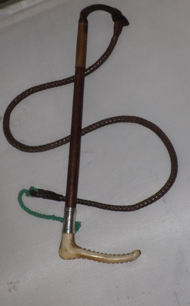 Antiguo caracteriza Swaine & Adeney-Caballeros Cuero Caza Whip & Lash 'Bill 23 4 45'
