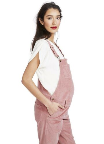 NEW Hatch Maternity Women's THE CORD OVERALL Rose Size 0 XS//0-2
