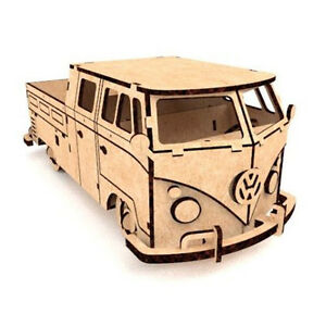vw bus t1 holz bausatz 3d puzzle bastelset auto set 82 teile modell ebay. Black Bedroom Furniture Sets. Home Design Ideas