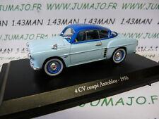 Voiture 1/43 ELIGOR hachettes renault 4CV n° 12 Autobleu 1956
