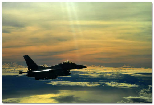 Air Force Silk Poster F-16 Fighting Falcon USAF Military Fighter Jet 002