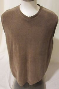 7684cb6ee3717 Tommy Bahama Sweater Vest Men s Large Sleeveless Cotton color Brown ...