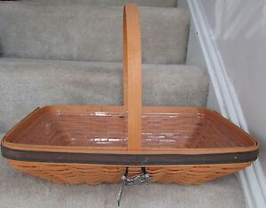 Longaberger-2000-Collectors-Club-Spring-Meadow-Basket-Protector-and-Tie-On