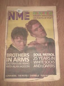 NME MAGAZINE / NEWSPAPER JANUARY 25 1986 BROTHERS IN ARMS SOUL PATROL CHERRELLE
