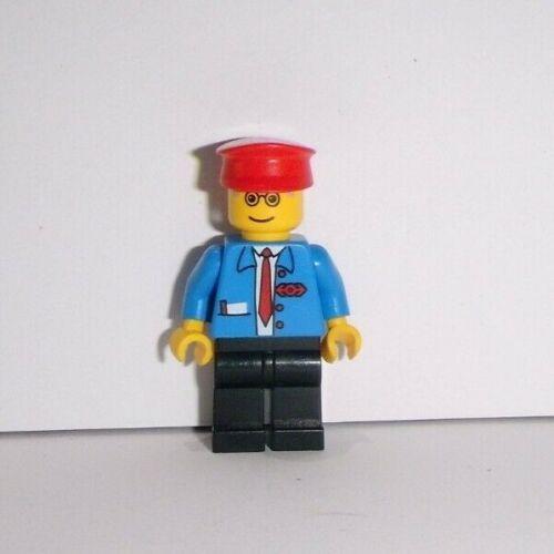 aus 4561 4556 Bahn-Angestellter mit roter Kappe Lego Eisenbahn Figur trn062