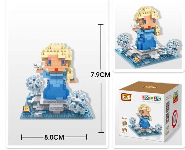 FROZEN ELSA LOZ BLOCK Micro Mini Building Nano Block Iblock Kids Toy Gift 9497