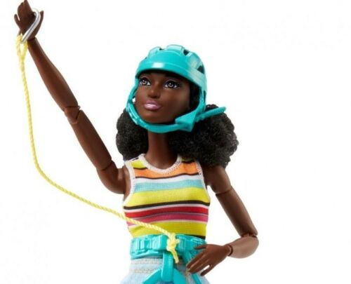 Barbie Made to Move Doll Camping Fun African American FNY37