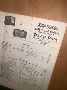 Details about RCA Victor 24BT-1 & 24BT-2 Radio Service Data Schematics on synthesizer schematics, antique radio schematics, zenith schematics, 4cx1500b amplifier schematics, whirlpool schematics, tube audio amplifier schematics, otl amplifier schematics, yamaha schematics, usb schematics, kitchenaid schematics, radio shack schematics, magnavox schematics, bose schematics,