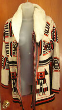 JC PENNY vtg small cardigan sweater 1970s tribal Southwestern totem Cochise knit