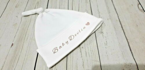Baby Shower Newborn Baby Gift Personalised New Baby Knotted Hat