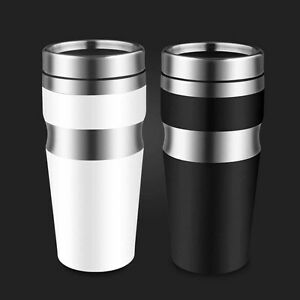 Image Is Loading 450 Ml Double Wall Stainless Steel Coffee Thermos