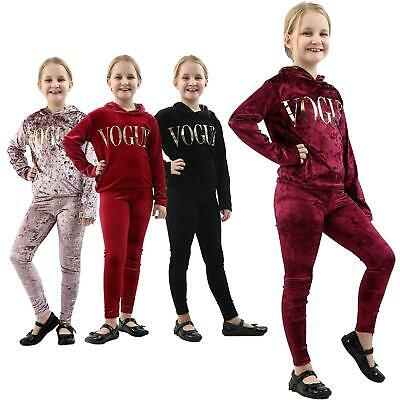 Girls Velour Style Lounge Set