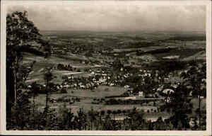 Erlbach Vogtland Ansichtskarte ~1930/40 Blick vom Kegelberg übers obere Vogtland