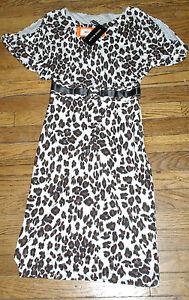 ROBE-NEUVE-LEOPARD-KAREN-MILLEN-60-TAILLE-36-UK-8-US-4-animal-print-DRESS-BNWT