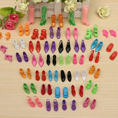 40x Paia Shoes Scarpine Scarpe per Barbie Bambole Silicone Misti Modelli Colori