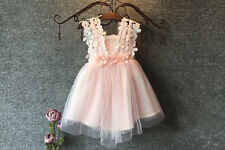 New Baby Girl Party Summer Dress Lace Tulle Flower Girls Wedding Dresses Formal