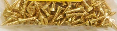 """Sharp Point Phillips Flat Head Brass Wood Screws #7 x 3//4/"""" 100 Pcs"""