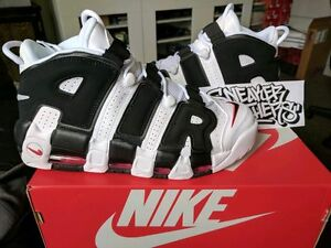 761576a39a6 Nike Air More Uptempo Scottie Pippen White Black Varsity Red 2017 PE ...
