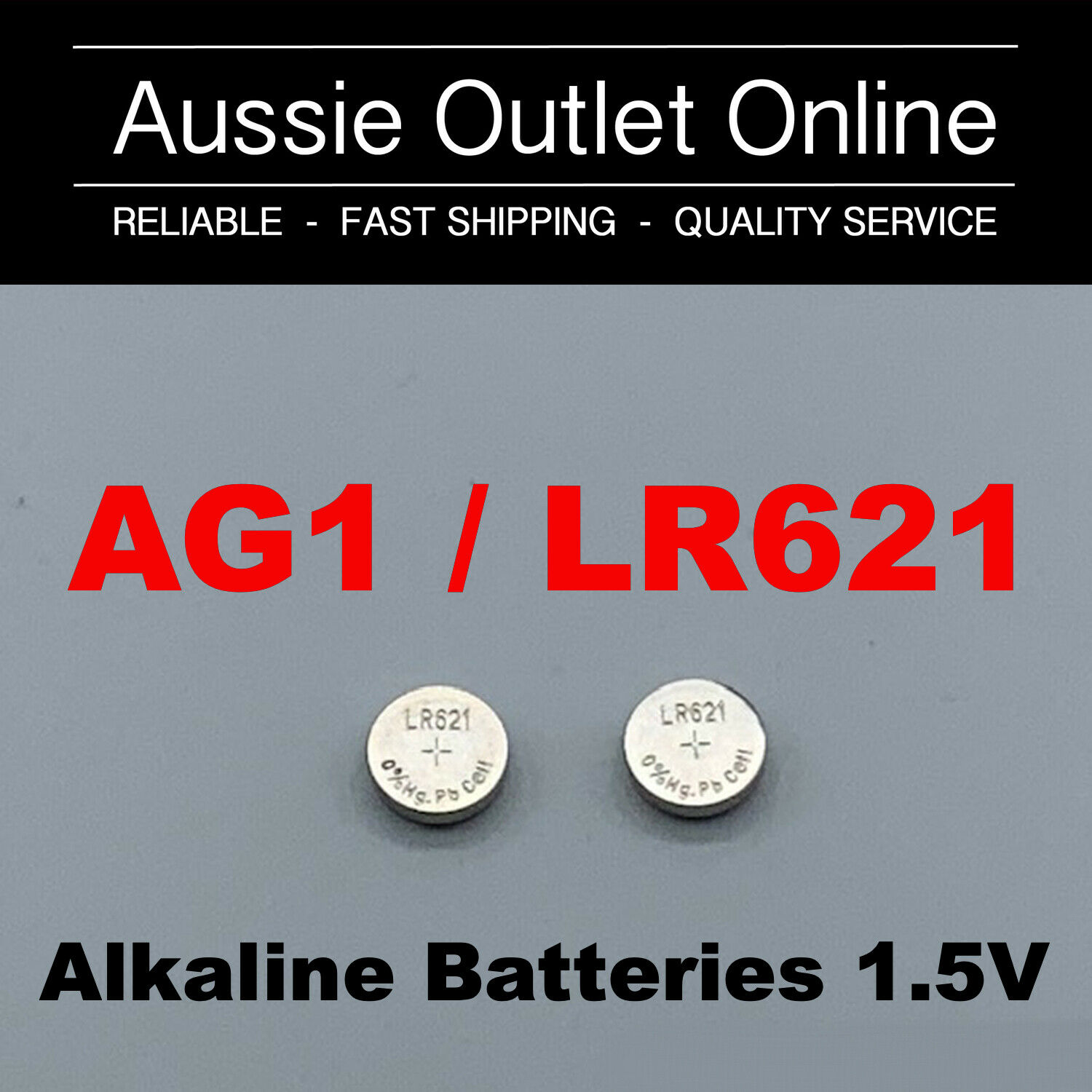2pcs AG1/LR621/364A Eunicell Alkaline Button Battery Cell 1.55V - Stock in AU