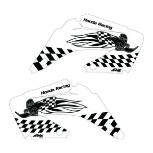 Details about Honda CR125 CR250 02-12 Woody shroud graphics white/black  FREE SHIPPING!!!