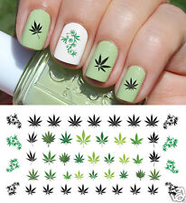 Marijuana Pot Leaf Nail Art Waterslide Decals Set#2 - Salon Quality!