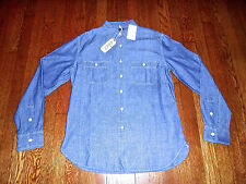 $148 GRAYERS 1920s STYLE JAPANESE RED LINE SELVEDGE CHAMBRAY WORK SHIRT Medium