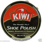 KIWI Black Shoe wax Polish protect, nourishes and glossy 14g new kiwi black