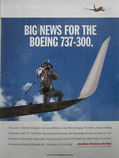 7/2003 PUB AVION BOEING 737-300 AIRLINER BLENDED WINGLETS ORIGINAL AD