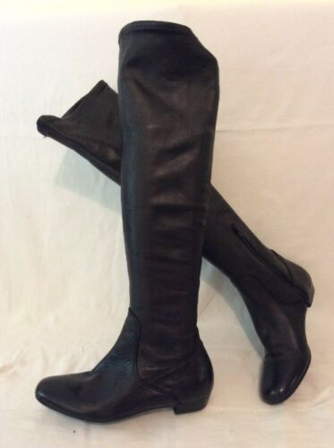 Knee Black Over Size 36 The Leather Cara Boots 6wHCqqt