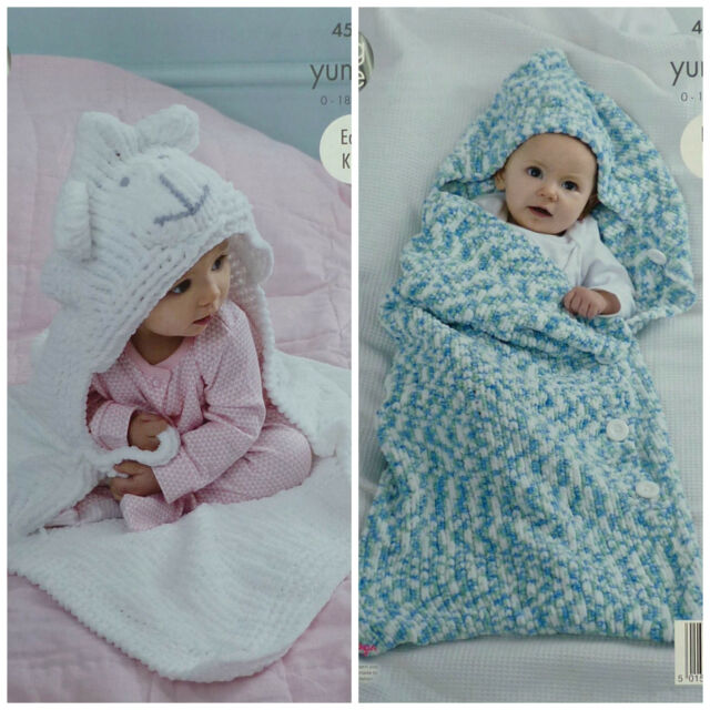 King Cole Yummy Chunky Knitting Pattern 4534 Easy Knit Cocoon