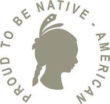 Car or Truck Window Die-Cut Vinyl Sticker #126 Native-American Woman
