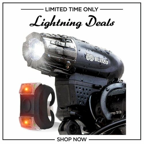 Cycling Safety Flashlight  USB Rechargeable POWERFUL Lumens FREE TAIL LIGHT