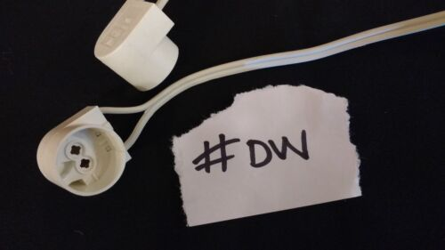 2 x T5 Fluorescent Lamp Holder 2 Foot Cable Lead White 1 Pair UK Seller #DW