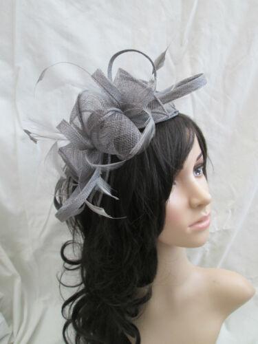 rosette Feather Nuovonero wedding Occasion Fascinator Sinamay e 3SARqc54jL