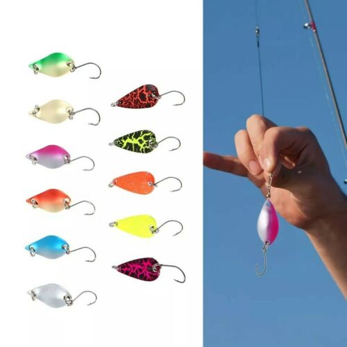 Bass Salmon Pike Sea Trout Fishing Spinners 11pcs 2.7gr  3 cm Spoon Lures