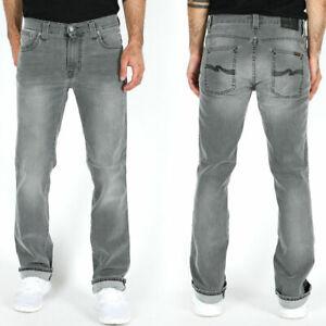 Nudie-Herren-Regular-Slim-Fit-Stretch-Jeans-Hose-Grau-Slim-Jim-Greyblack
