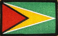 Guyana Flag Military Patch With Velcro® Brand Fastener Black Border