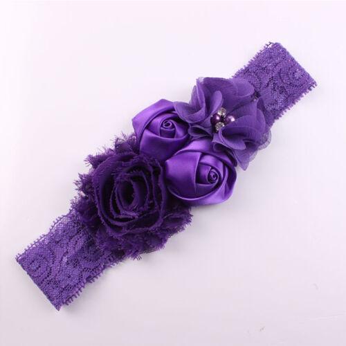 Baby Hair Bow Headband Flowers Hairband Turban Knot Girl Head Wear Supplies