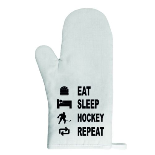 Gant de cuisine manique eat sleep hockey