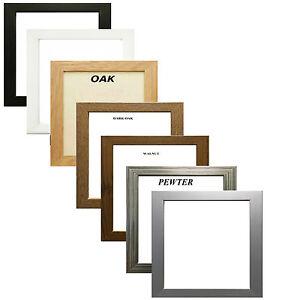Square-Picture-Frame-Photo-Frame-Poster-Size-Frame-Black-Oak-White-Pewter-Walnut